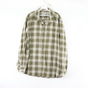 Vtg Carhartt Mens XL Plaid Flannel Button Shirt
